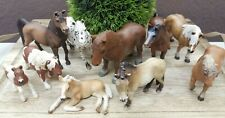 10x Schleich Pferde Ponys Fohlen für Reiterhof Bauernhof S#11