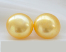 Gold Genuine 7mm Cultured Freshwater Pearl Stud Earrings Sterling Silver Stick