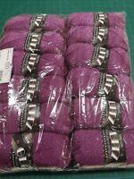 12 x king Cole glitz 1725 plum purple DK double knit 100g balls