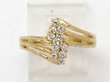 Cluster Right Hand Ring .29ct 14k Yellow Gold Round Diamond