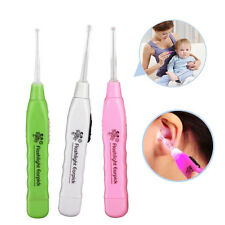 New Ear-pick Earwax Cerumen Remover Cleaner Curette With LED Flashlight Light
