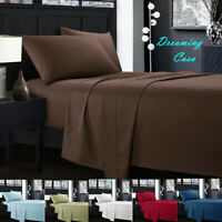 KING SIZE SHEETS 1800 Count 4 Piece Deep Pocket Bed Sheet Set King Queen Size J4