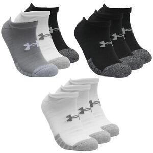 3 Paar Under Armour HeatGear No Show Sneaker Socken Unisex Kurzsocke
