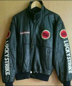 Leather Jean Lucky Strike old clothes men's leather jumper