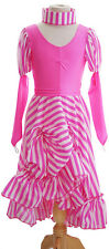 Panto-Widow Twanky-Ugly Sister NEW PANTO DAME STRIPE with RUCHED SKIRT -TEEN-4XL