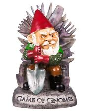 Big Mouth GAME of GNOMES Garden GNOME Outdoor Statue FUNNY Angry Gnome Throne