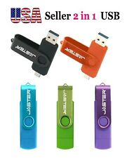 4GB USB 2 in 1 ZIPPY Flash Drive Memory Stick Pen Thumb Disk Android PC, Mac USA