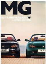 MG TF 80th Anniversary Limited Edition 2004 UK Market Sales Brochure 120 135 160