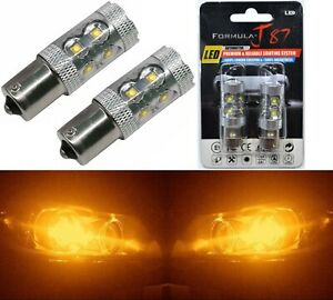 LED Light 50W 1156 Amber Orange Two Bulbs Front Turn Signal Replacement Lamp JDM