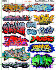 6028 DAVE'S DECAL HO SCALE DECALS URBAN GRAFFITI TRAIN BOXCARS STREET CITY WALLS