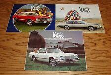 Original 1976 1977 1978 Plymouth Volare Sales Brochure Lot of 3 76 77 78