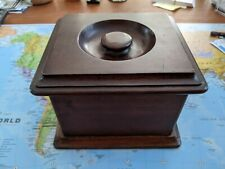 Dunhill Wood Pipe Tobacco Caddy Humidor - Rare