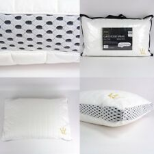 BACK IN STOCK Pocket Sprung Pillow Firm Cotton Orthopaedic For Back Side Sleeper