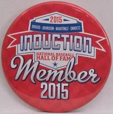 2015 Baseball Hall Fame Induction Weekend Button Pin Martinez Smoltz Johnson