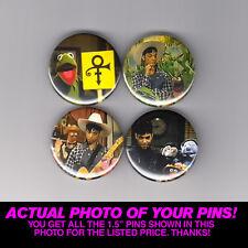"PRINCE + MUPPETS - 1.5"" PINS / BUTTONS (record lp print poster shirt logo)"