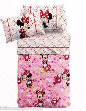 Completo Lenzuola Caleffi Disney Minnie Provenza 1 Piazza e mezza Puro Cotone
