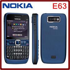 Nueva marca NOKIA E63 Wifi * 3 G * Cámara Desbloqueado Teléfono Móvil Azul Ultra Genuino