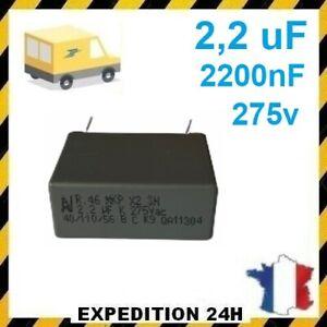 2.2uF 225K 275VAC 2200nF MKP X2 SH Safety Capacitor 40/110/56/B