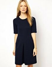Navy quilted short sleeve knee length dress - Whistles - AU14 work office casual