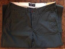 Abercrombie Chino Slim Straight Brand New With Tags 32/34 Dark Green
