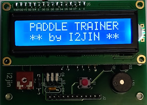 Keyer elettronico per cw con Display LCD - Paddle Keyer Morse with LCD Display