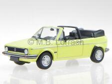 VW Golf Rabbit 1 convertible yellow diecast model car 400055130 Minichamps 1/43