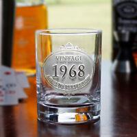 Vintage Year Engraved Bourbon Glasses SET OF 2 (vintwsky2)