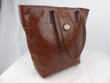 THE BRIDGE large brown leather shopper tote shoulder bag