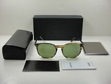 AUTHENTIC PERSOL SUNGLASSES PO3007S 10494E BROWN FRAME/GREEN LENS 53MM