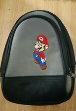 Nintendo Super Mario Bros Embroidered Case Black Bag w/handle NO Strap Pre-owned