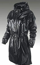 Nike Long Windrunner Parka Winter Jacket Shiny Nylon Gloss Black Wet Look XS