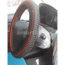 Non-slip Ice Silk Car Steering Wheel Cover Grip Skin Glove Universal Black