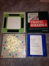 Vintage Version SPEARS TRAVEL SCRABBLE Board Game Complete Holiday Vacation Game