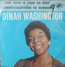 Dinah Washington Our Love Is Here To Stay [PS] 45-rpm Record