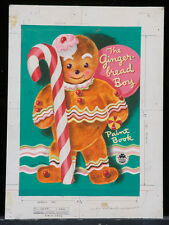 "GEORGE TRIMMER 1952 Original Cover Art - ""The Gingerbread Boy Paint Book"" (A138)"