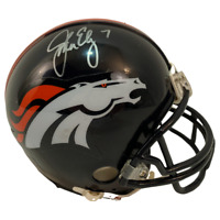 John Elway Autographed Denver Broncos Mini Helmet LSM JSA COA