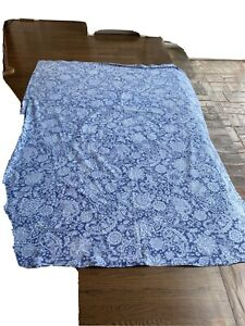 Potterybarn Blue Floral Tablecloth 84 X 64 Very Nice