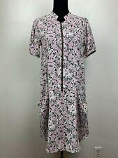 ASOS  Womens Zipper Front Midi Mauve Pink Sheath Dress Size US 6