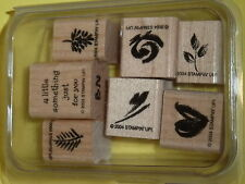 Wee Watercolors Stampin Up!  2-Step 6 Piece Stamp Set - Rose/Heart/Leaf/Pinecone