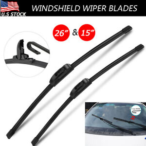 """Fit For Chevrolet Sonic Aveo Lincoln MKC 26""""&15""""H/J-HOOK Windshield Wiper Blades"""