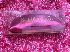 Kendall + Bolsa De Maquillaje Brocha y Kylie cremallera recorte Metálico Brillo Rosa
