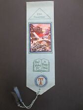BOOKMARK Christmas Greetings 1938 Snow A TYSON Memorial Cotts Aylesby Grimsby