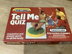 Vintage Spears Tell Me Quiz Game in very good condition.