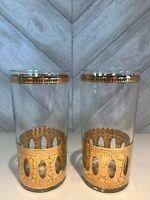 Vintage Culver LTD Antigua High Ball Glasses, 22K High Ball Glasses (6), A-160