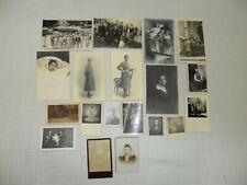 Vintage : lot de photos ( portraits ) état voir photos