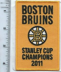 """Bruins Stanley Cup 2011 Champions Banner 4"""" PATCH Opening Night (sew or iron on)"""