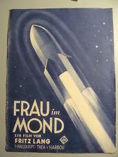 Filmprogramm  FRAU im MOND von  Fritz Lang   Illustrierter  Filmkurier   ALT