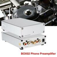 Mini Phono Preamplifier Turntable Audio Preamp Amplifier Pre-amplifier MM/MC RCA
