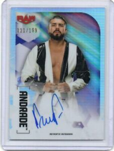 ANDRADE 2020 TOPPS CHROME AUTOGRAPH RAW CARD /199 WWE SUPERSTAR