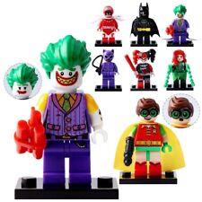 Lot of 8 DC Figure Batman Robin Joker HarleyQuinn Figures Minifigure LEGO Toys &